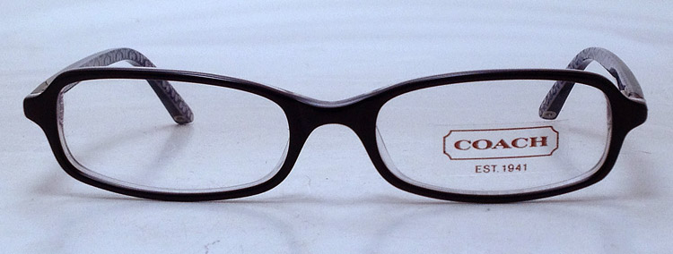 Used Designer Eyeglass Frames : NEW Coach Gianna Eyeglasses - Black Plastic Gianna 579 Eye ...