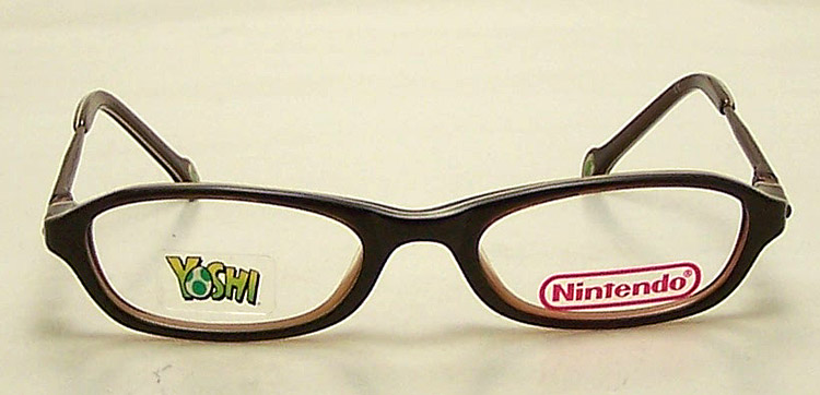 Used Designer Eyeglass Frames : NEW Nintendo Eyeglasses Kids Brown Plastic Eye Glasses eBay