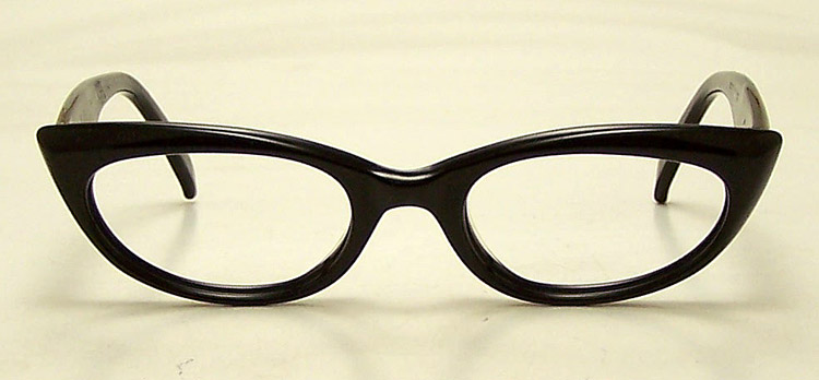 Vintage Black Plastic Cat Eye Eyeglasses 1950s Glasses eBay