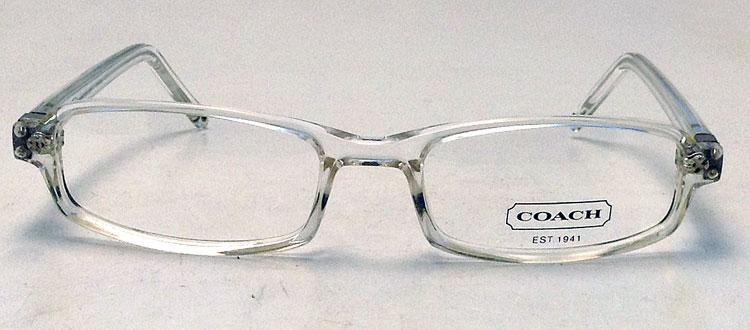 Eyeglass Frames Crystal Clear : NEW Coach Harrison Eyeglasses - Crystal Clear Plastic ...