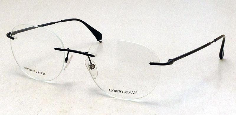 NEW Giorgio Armani Rimless Eyeglasses - GA 800 Black Metal ...