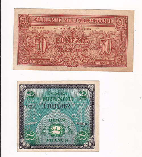 1944 2 Francs Note France Money Paper Bill Two Deux Francs
